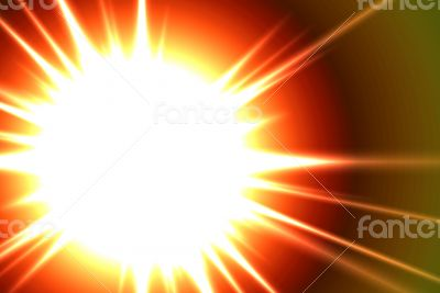 Solar flare in Space