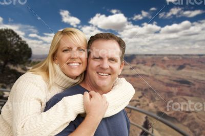 Happy Affectionate Couple at the Grand Canyon