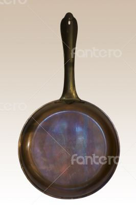 Copper-colored frying pan