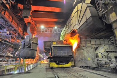 transportation on steel plant