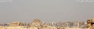 Pyramids In The Desert Of Egypt Giza