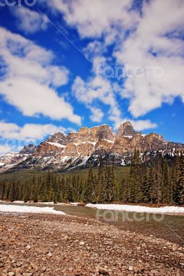 Castle Mountain in Banff National Park Canada