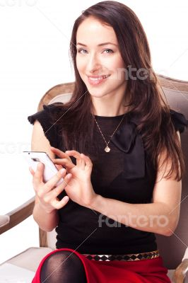 Woman is text messaging using smartphone