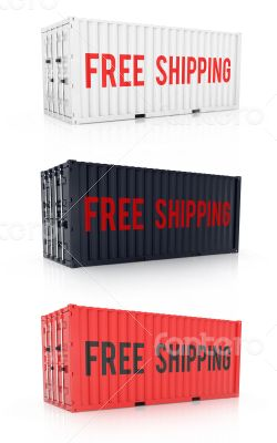 Free shipping red black white metal freight shipping container o
