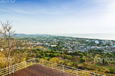 View point Hua Hin city in the morning