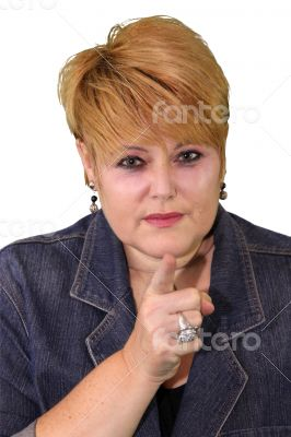 Mature Woman Body Language - Accusing