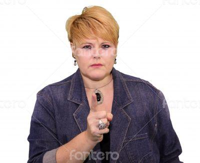 Mature Woman Body Language - Angry Warning