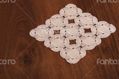Handmade Lace on the Wood