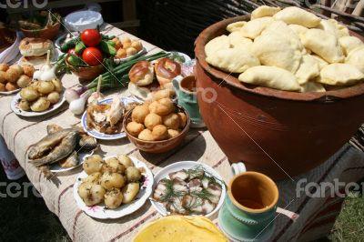 Traditional Ukrainian dinner meals