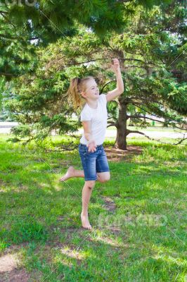 Dancing girl with sore knee