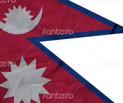 Close up of Ruffled Nepal flag