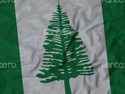 Close up of Ruffled Norfolk Island flag