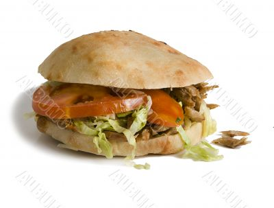 Turkish hamburger. Fast food