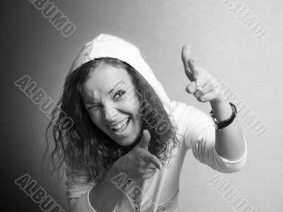 Girl in a hood