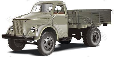 Retro lorry isolated