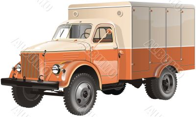 vintage russian lorry
