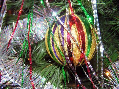 Ornament on a christmas fur-tree