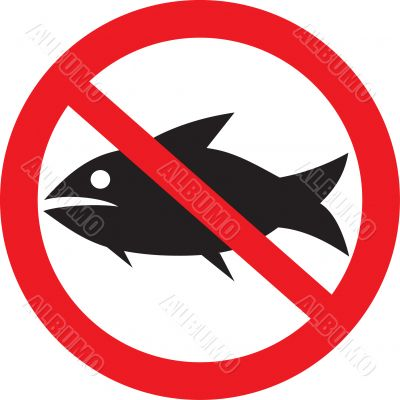 The entrance is forbidden to fishes.