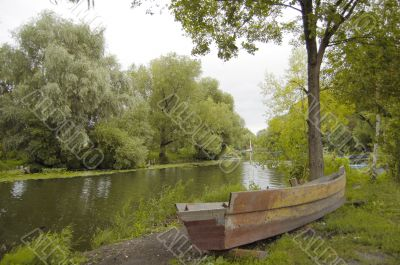 Aging rusty boat