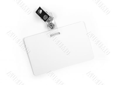 White ID card