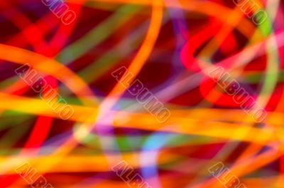 colored light motion blurs