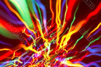 colored light motion blurs