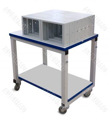 Metal industrial trolley