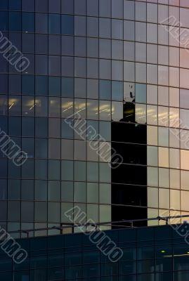 Corporate office building facade