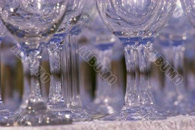 Bottom part of wine glasses