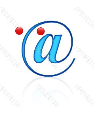 alpha-mail blue