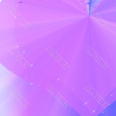 Violet background with heart-shaped lines