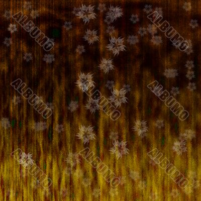 grunge background with abstract flowers