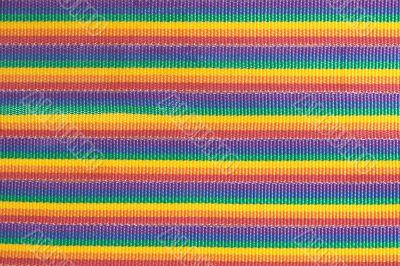 Rainbow colored fabric stripes