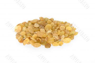 Pile of  raisins close up