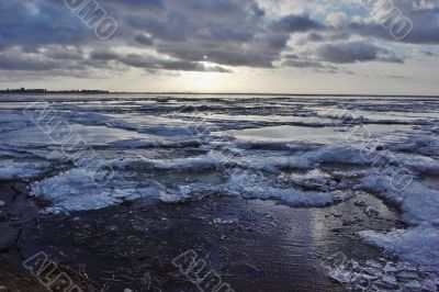 The beginning of winter on gulf of Finland