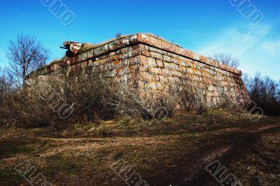 Ancient storehouse from granite blocks