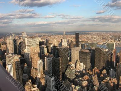 View from Empire State building on Manhattan