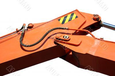 Hydraulic element of a shovel boom