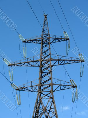 Line of high-voltage electricity transmissions