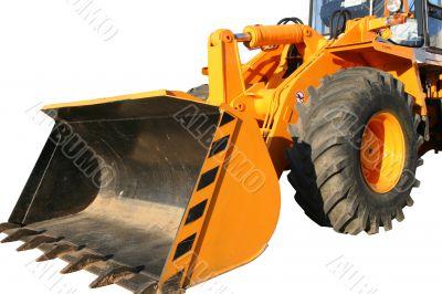Bucket of the heavy building bulldozer