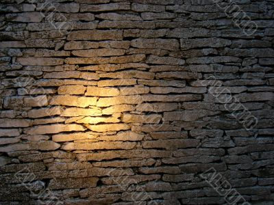 Wall with illumination