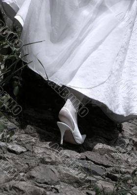 Footwear of the bride