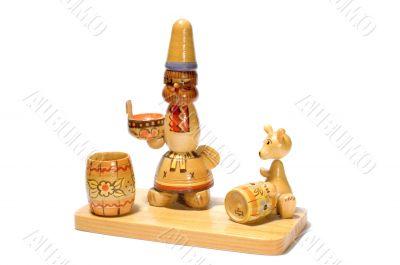 Wood old souvenir