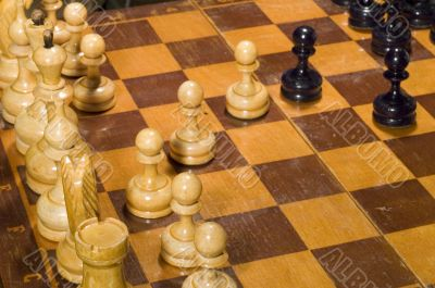to play chess close up