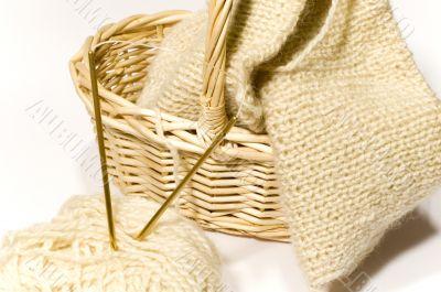 knitting needle, basket