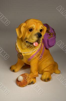 Dog with knapsack