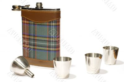 flask with cans