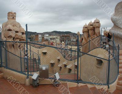 Gaudi house-top