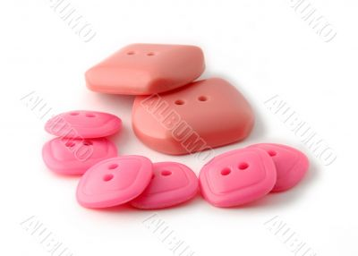 Red and rose rectangle buttons
