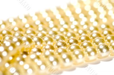 pearls beads macro
